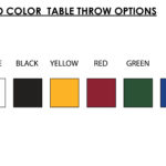 Full Color Table Throw 7