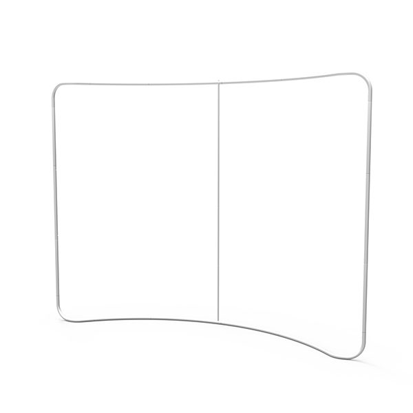 10ft Curve Tension Fabric Display 3